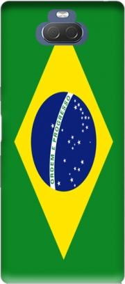 Flag Brasil Case for Sony Xperia 10 Plus