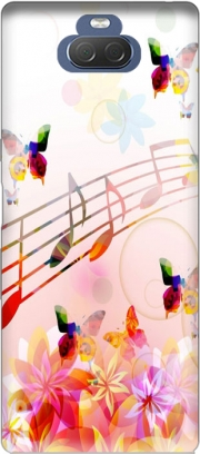 Musical Notes Butterflies Case for Sony Xperia 10 Plus