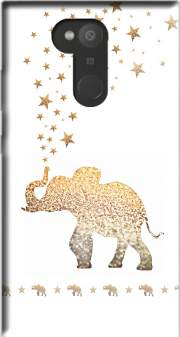 Gatsby Gold Glitter Elephant Case for Sony Xperia L2