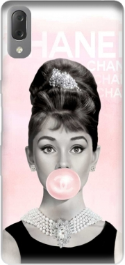 Audrey Hepburn bubblegum Case for Sony Xperia L3