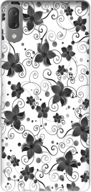 Black Flower Case for Sony Xperia L3