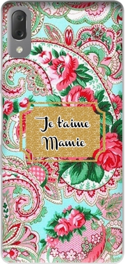 Floral Old Tissue - Je t'aime Mamie Case for Sony Xperia L3