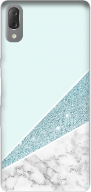 Initiale Marble and Glitter Blue Case for Sony Xperia L3