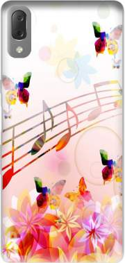 Musical Notes Butterflies Case for Sony Xperia L3