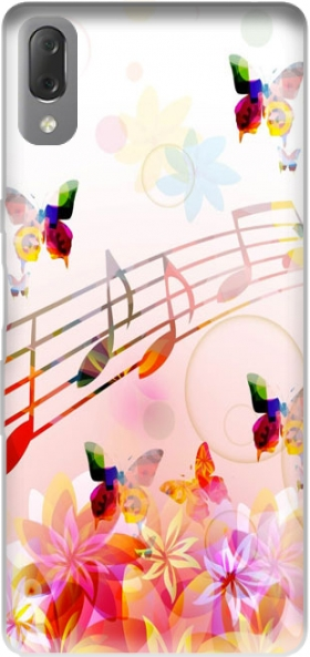 Case Musical Notes Butterflies for Sony Xperia L3