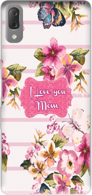 Pink floral Marinière - Love You Mom Case for Sony Xperia L3