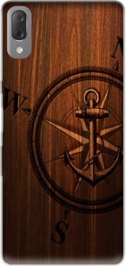 Wooden Anchor Case for Sony Xperia L3