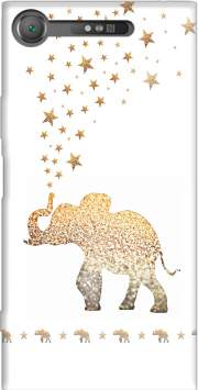 Gatsby Gold Glitter Elephant Case for Sony Xperia XZ1