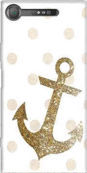 GLITTER ANCHOR AND DOTS IN GOLD Case for Sony Xperia XZ1