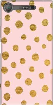 GOLDEN DOTS AND PINK. Case for Sony Xperia XZ1