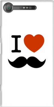 I love Moustache Case for Sony Xperia XZ1