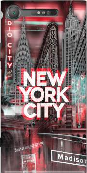 New York City II [red] Case for Sony Xperia XZ1