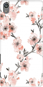 Cherry Blossom Aquarel Flower Sony Xperia Z5 Case