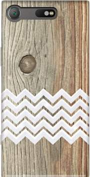 Chevron on wood Case for Sony Xperia XZ1 Compact