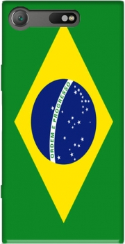 Flag Brasil Case for Sony Xperia XZ1 Compact