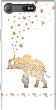 Gatsby Gold Glitter Elephant Case for Sony Xperia XZ1 Compact