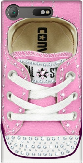 Case All Star Basket shoes Pink Diamonds for Sony Xperia XZ1 Compact