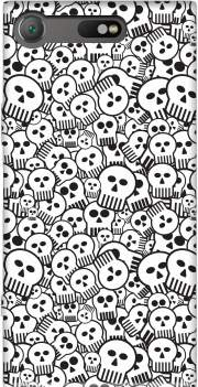 toon skulls, black and white Case for Sony Xperia XZ1 Compact