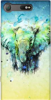 watercolor elephant Sony Xperia XZ1 Compact Case