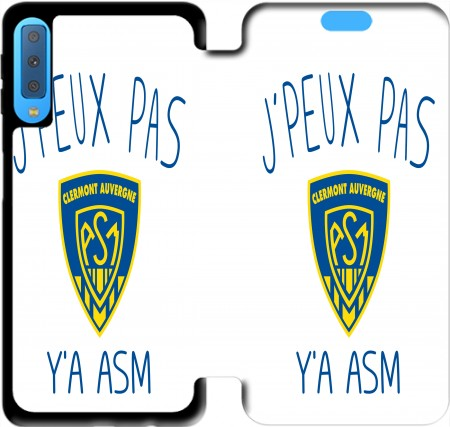 Wallet Case Je peux pas ya ASM - Rugby Clermont Auvergne for Samsung Galaxy A7 2018