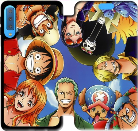 Wallet Case One Piece CREW for Samsung Galaxy A7 2018