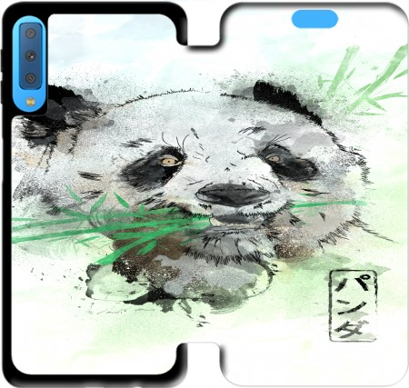 Wallet Case Panda Watercolor for Samsung Galaxy A7 2018