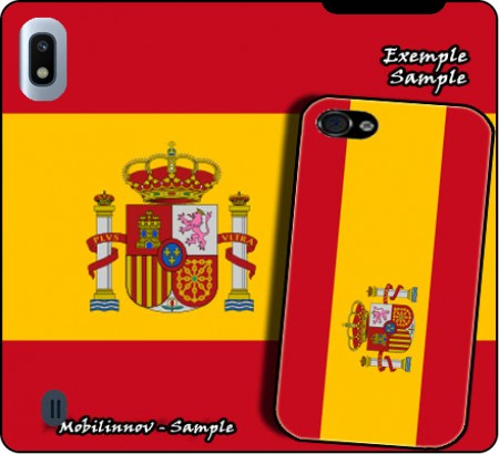Wallet Case Flag Spain for Samsung Galaxy A10