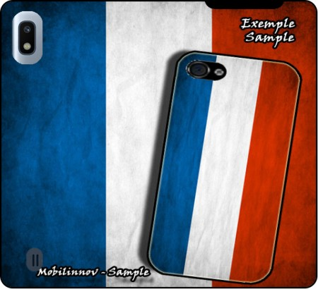 Wallet Case Flag France Vintage for Samsung Galaxy A10