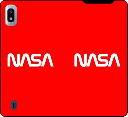 Wallet Case Nasa Red Logo Fail for Samsung Galaxy A10
