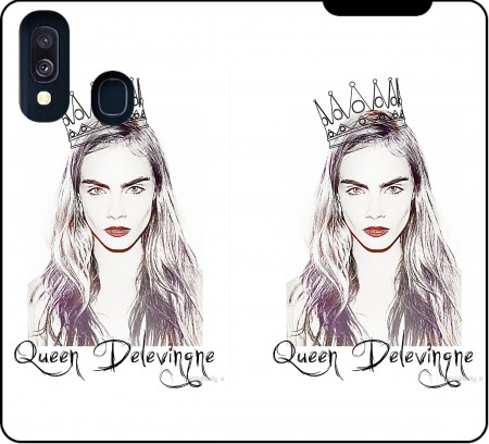 Wallet Case Cara Delevingne Queen Art for Samsung Galaxy A40