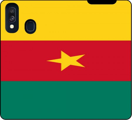 Wallet Case Flag of Cameroon for Samsung Galaxy A40