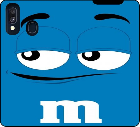 Wallet Case M&M's Blue for Samsung Galaxy A40