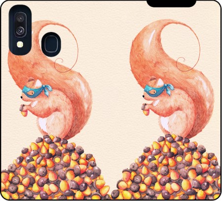 Wallet Case The Bandit Squirrel for Samsung Galaxy A40