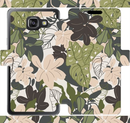 Wallet Case BOHEMIAN TROPICAL FOLIAGE for Samsung Galaxy A5 (2016)