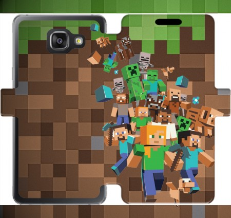 Wallet Case Minecraft Creeper Forest for Samsung Galaxy A5 (2016)