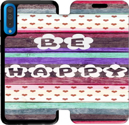 Wallet Case Be Happy Hippie for Samsung Galaxy A50