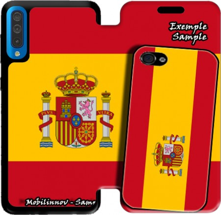 Wallet Case Flag Spain for Samsung Galaxy A50
