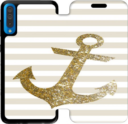 Wallet Case Gold Mariniere for Samsung Galaxy A50