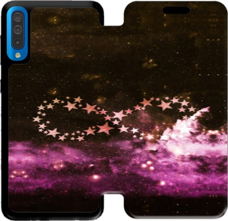 Wallet Case Infinity Stars purple for Samsung Galaxy A50
