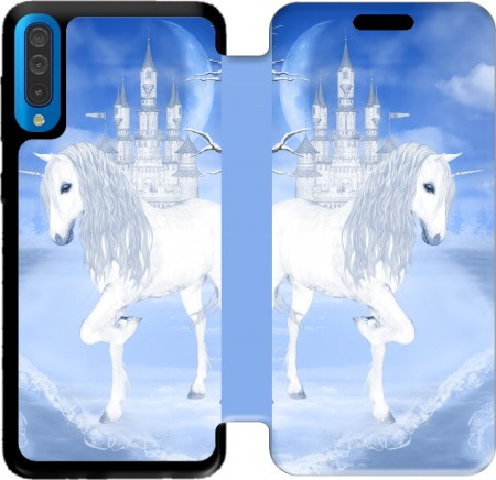 Wallet Case The White Unicorn for Samsung Galaxy A50