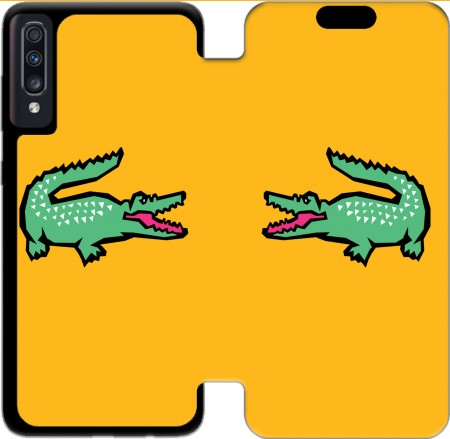 Wallet Case alligator crocodile lacoste for Samsung Galaxy A70