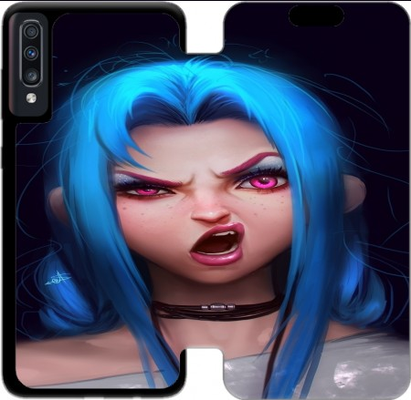Wallet Case Jinx Lockscreen for Samsung Galaxy A70