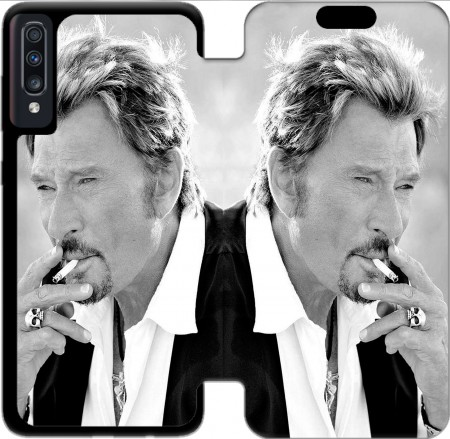 Wallet Case johnny hallyday Smoke Cigare Hommage for Samsung Galaxy A70