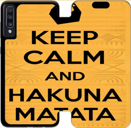 Wallet Case Keep Calm And Hakuna Matata for Samsung Galaxy A70