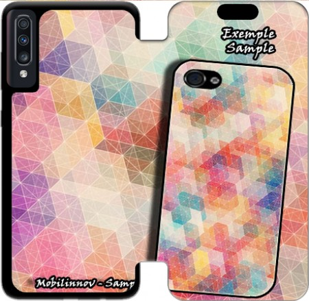Wallet Case Space Cube Diagonal for Samsung Galaxy A70