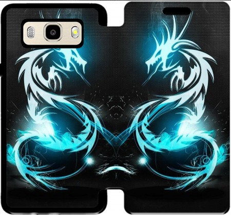 Wallet Case Dragon Electric for Samsung Galaxy J5 (2016)