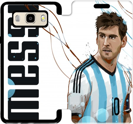 Wallet Case Football Legends: Lionel Messi World Cup 2014 for Samsung Galaxy J5 (2016)