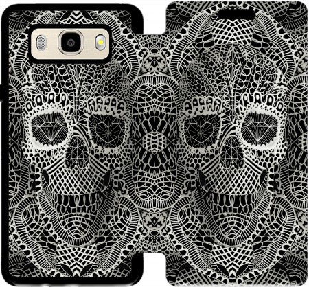 Wallet Case Lace Skull for Samsung Galaxy J5 (2016)