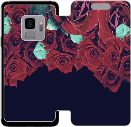 Wallet Case Roses for Samsung Galaxy S9