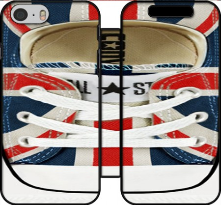 Wallet Case All Star Basket shoes Union Jack London for Iphone 6 4.7